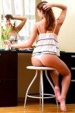 Sexy Girl im Spiegel