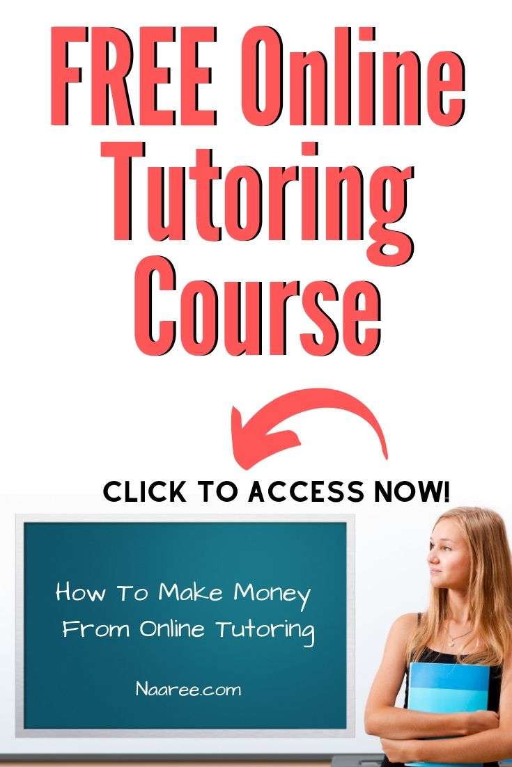 Free Online Tutoring Course