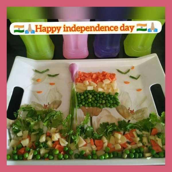 tricolour vegetables food art