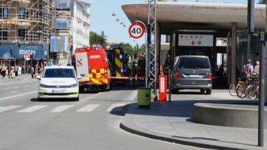 صورة وفاة شخص دهساً في محطة قطارات Nørreport شمال كوبنهاجن