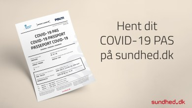 """صورة للمسافرين إلى خارج الدنمارك: يمكنك الآن الحصول على """"وثيقة سفر COVID-19"""""""
