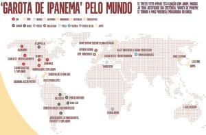 Garota de Ipanema pelo mundo