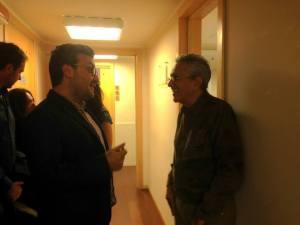 Con Caetano Veloso nel backstage
