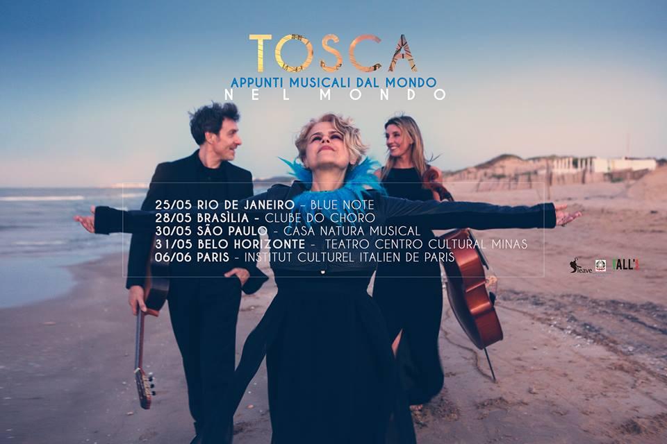 Tosca sbarca in Brasile per una tournée internazionale