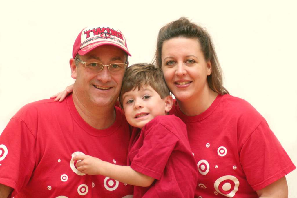 Family in Target T-shirts