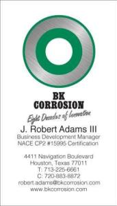 #1-BK CorrosionJ. Robert Adams III 2