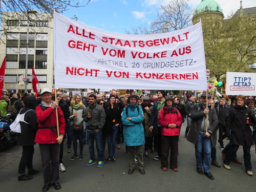 TTIP-Demonstration in Hannover