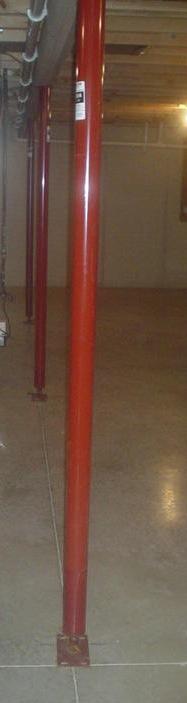 Adjustable steel column