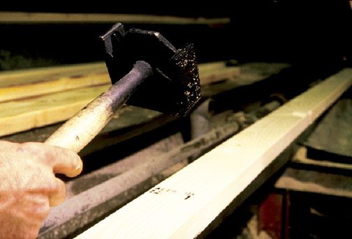 Lumber is assigned a grade stamp before it leaves the sawmill