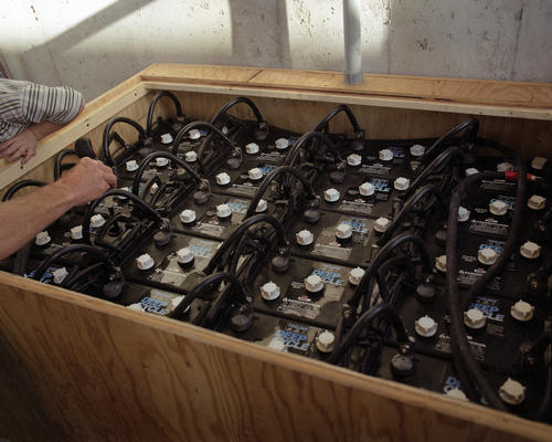 Toxic batteries are required by solar arrays