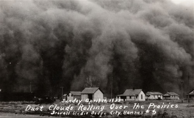 "Dust bowl ""black blizzards"" created immense static charges"