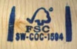 FSC stamps are used to identify lumber that has been harvested sustainably