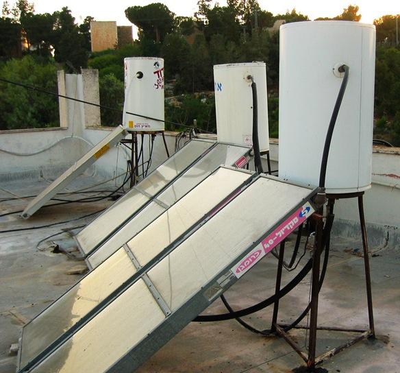 Israeli solar water heaters