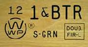Lumber grade stamp