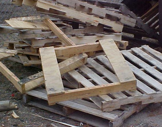 Used pallets burn efficiently, but you must be sure they are free from chemical treatment