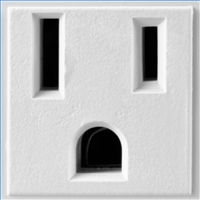 Modern electrical receptacles are polarized and grounded