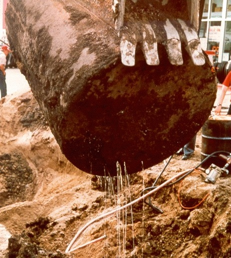 Leaky underground fuel storage tank