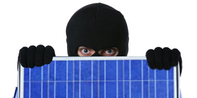 Solar panels are easy targets for thieves