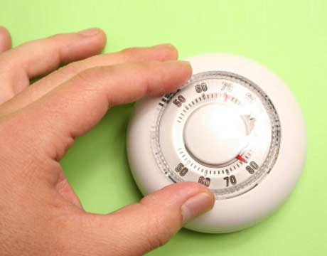 Thermostats are used to control heating and cooling cycles