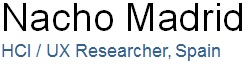 Nacho Madrid, HCI / UX researcher logo
