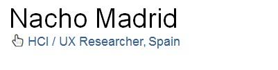 Nacho Madrid - HCI / UX researcher logo