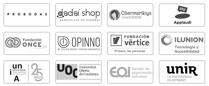 Clientes con los que ha trabajado Nacho Madrid: Probodas, Dadai Shop, Cibermarikiya, Applaudi, Fundación ONCE, Opinno, Fundación Vertice, ILUNION Tecnología y Accesibilidad, UNIA, UOC, EOI, UNIR.