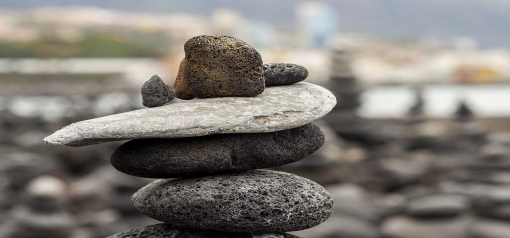Piedras de diferente tamaño y forma, que ejemplifican el concepto evolutivo de affordance.