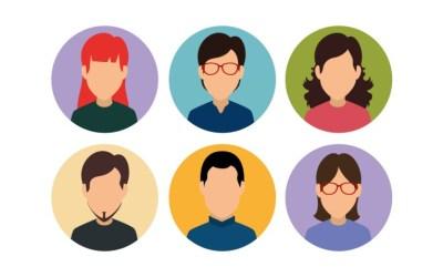 Avatares de perfiles de usuario