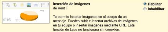 activar insercion de imagenes en labs de gmail