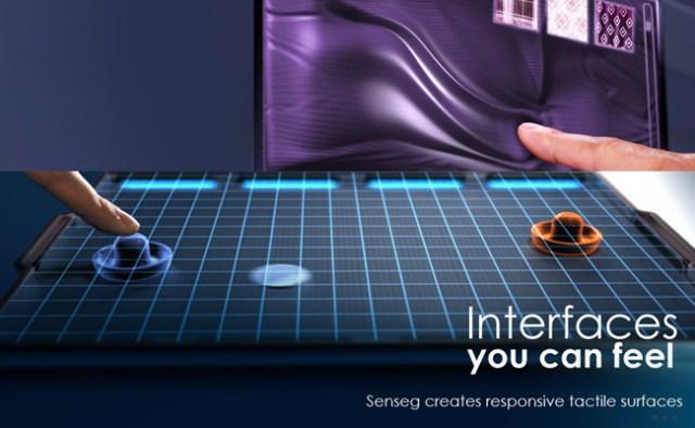 Senseg, tecnología haptica e interfaces tactiles