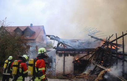 Brand landwirtschaftliches Gebäude in Meißenberg
