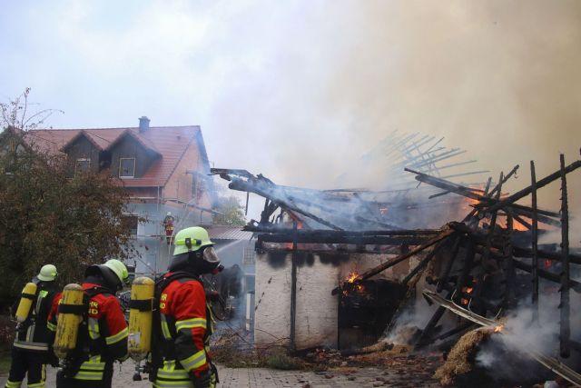 Symbolbild: Brand eines landwirtschaftlichen Gebäudes Foto: Pressedienst Wagner