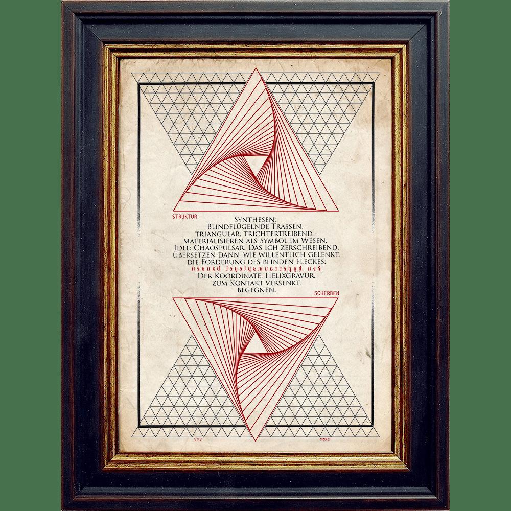 Nachtgnosis ORATIO Series - Strukturscherben - Artprint Kunstdruck Wandschmuck A4 - Rahmen Revelatus - Papier Vintage
