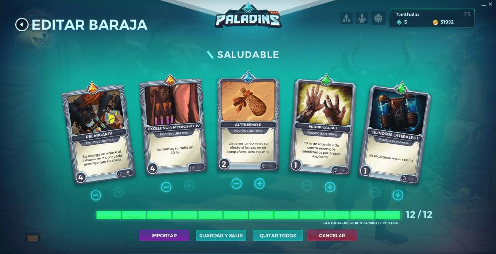 Paladins. Build decks. Pip