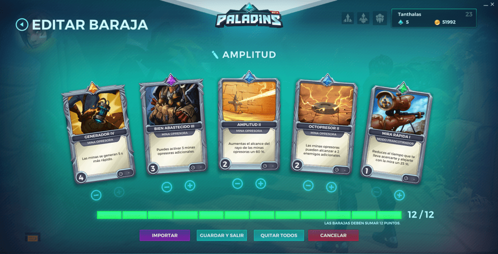 Paladins. Build decks. Kinessa
