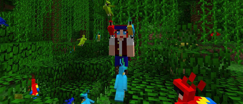 Minecraft Snapshot 17w13a. 1.12. Parrots. Loros