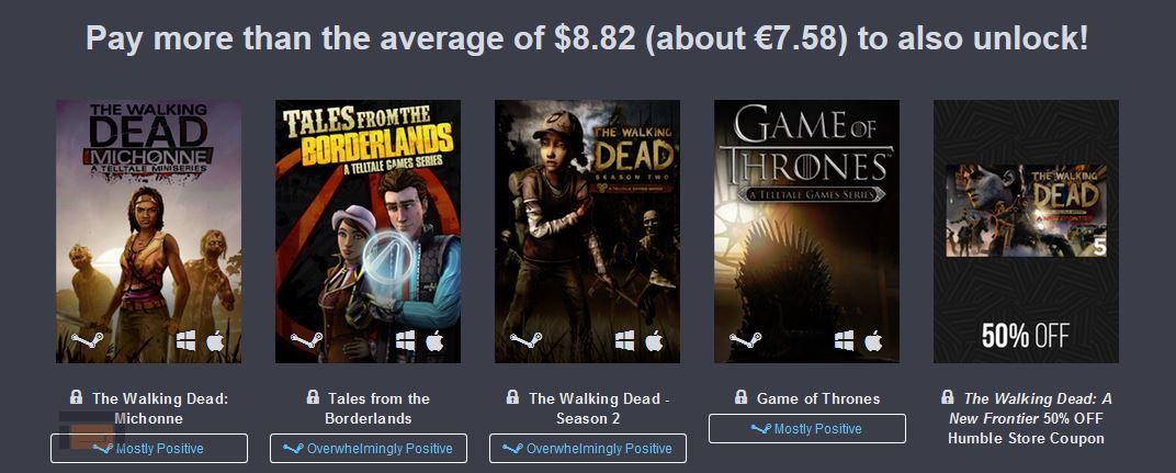 Humble bundle Telltale