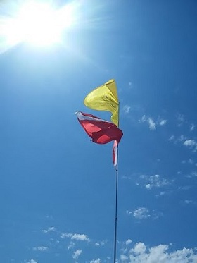 Flags at Sasquatch on Nada Mucho