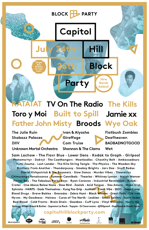 Capitol Hill Block Party 2015 Full Lineup on Nada Mucho