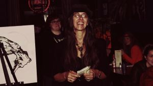 Author CJ Kinton at Edge Soundtrack Release Show @ The Skylark by Jim Toohey for Nada Mucho