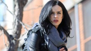 "NEW YORK, NY - MARCH 10: Krysten Ritter filming ""Jessica Jones"" on March 10, 2015 in New York City. (Photo by Steve Sands/GC Images)"