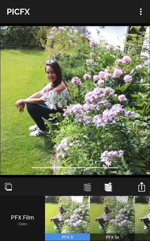 Instagram foto's bewerken in Picfx