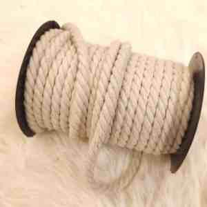 Baumwollkordel gedreht 9mm einfarbig