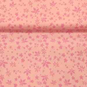 Baumwollstoff Streublumen Rosa