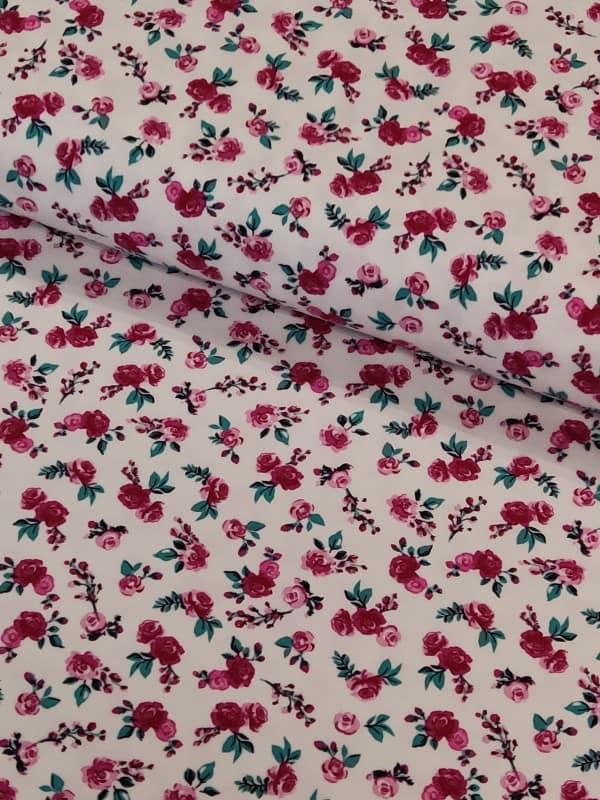 Jersey Streublumen Weiß