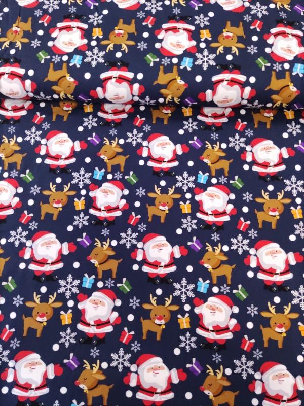 Jersey Weihnachtsmann Dunkelblau