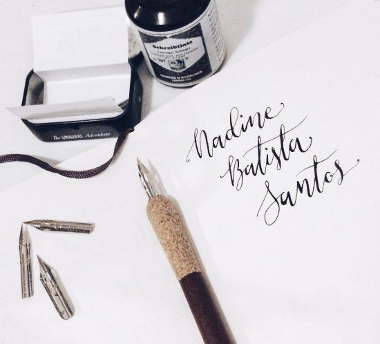Moderne Kalligraphie | modern calligraphy | nadinebatista.de