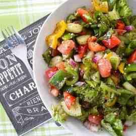 Salade fattoush, la meilleure !