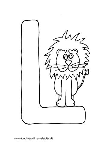 Tieralphabet Buchstabe L Mit Leo Lwe Nadines Ausmalbilder