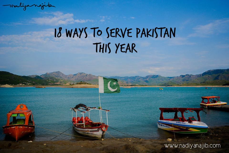18 Ways to Serve Pakistan This Year